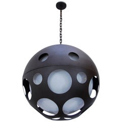 Large Perforated Globe Pendant
