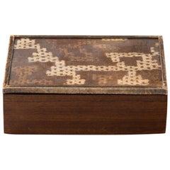 Peruvian Nazca Textile Exotic Wood Box