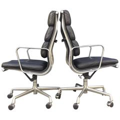 Eames for Herman Miller High Back Soft Pad Chairs