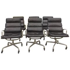 Eames for Herman Miller Soft Pad Lounge Chair on Casters