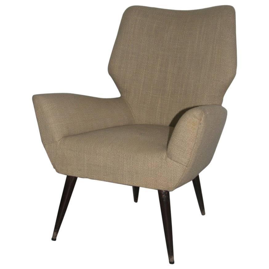 Original Italian Mid-Century Armchair, 1950s