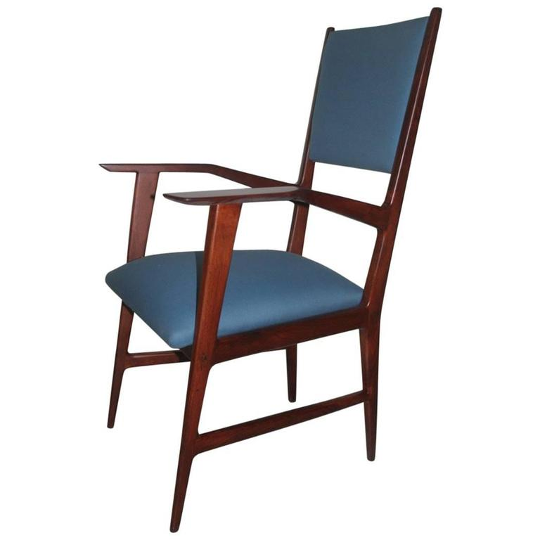 Italian Mid-Century Desk Chair 1950s Geometric Design