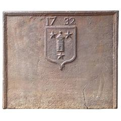18th Century French 'Unknown Coat of Arms' Fireback