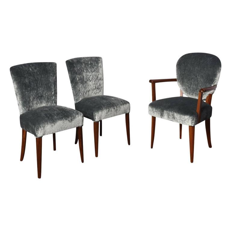 Set of Three Art Deco Chairs