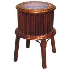 George III Period Mahogany Drum-Shaped Jardiniere