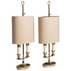 20th Century Pair Bouillotte Lamps