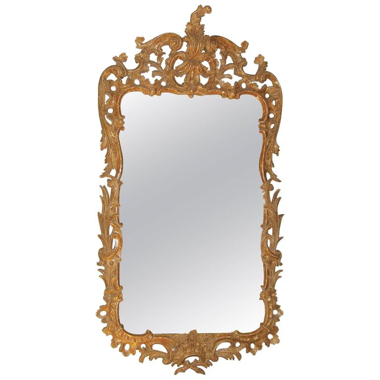 Mid-18th Century Chippendale Period Giltwood Mirror
