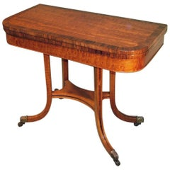 Regency Period Mahogany Card Table