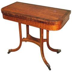Regency Period Mahogany Card Table
