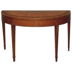 Late 18th Century Sheraton Period Large Satinwood Card Table