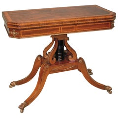 Regency Period Rosewood Card Table
