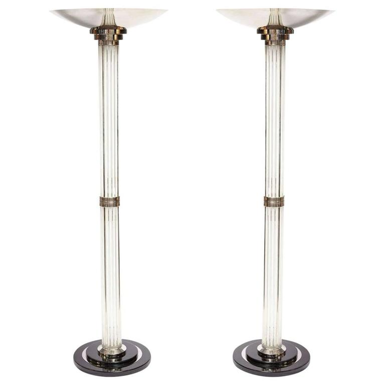 Pair of Art Deco Torchieres
