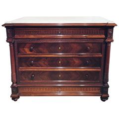 Chest of Drawers French Marble Topped Commode
