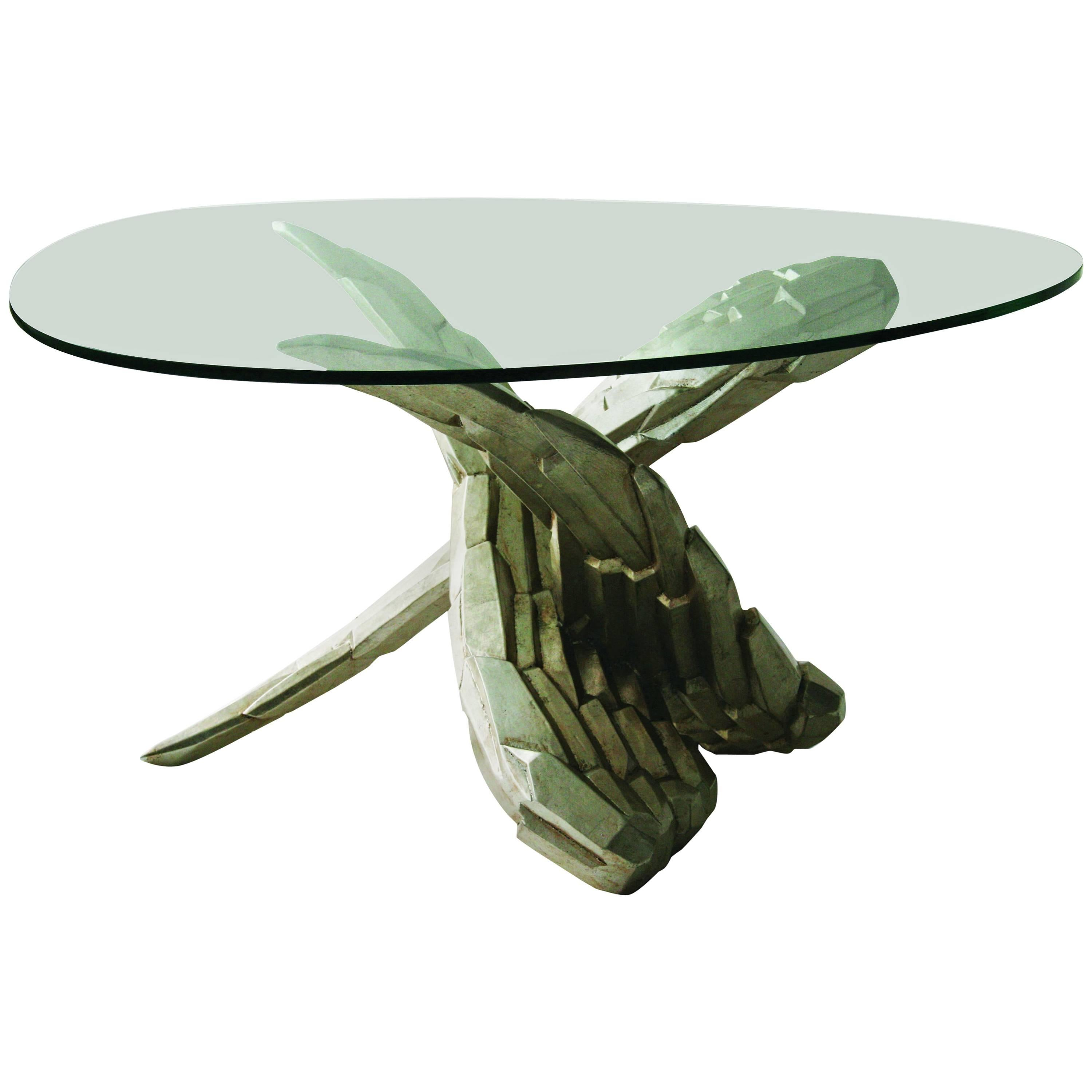 Wing carved table, designed by Nigel Coates
