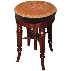 Regency period mahogany adjustable music stool
