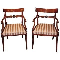 19th Century Regency Mahogany Armchairs