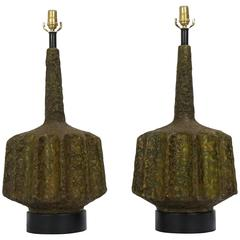 Pair of Mid-Century Lamps by Volcano Fantoni