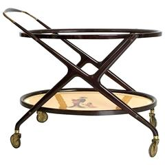 Italian Serving Cart in the style of Ico Parisi, 1950s