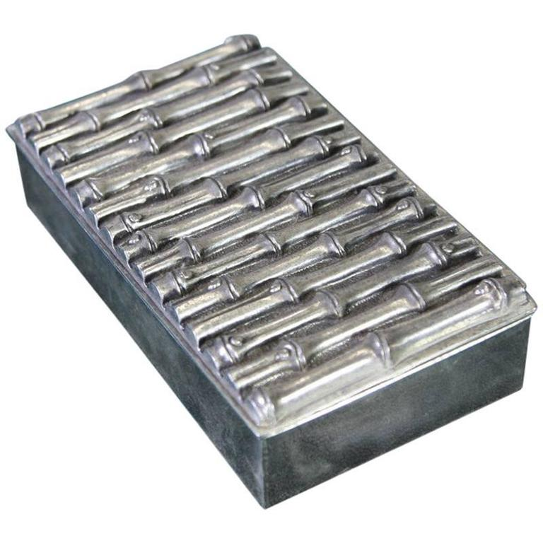 Faux Bamboo Silver Box, 1970s