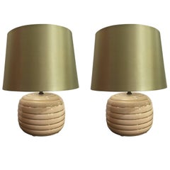 Pair of Italian Table Lamps in the Style of Tommaso Barbi, circa 1960