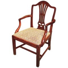 Late 18th Century Hepplewhite Period Mahogany Armchair