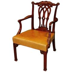 Antique Chippendale Period Mahogany Armchair