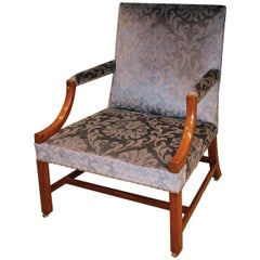 18th Century Mahogany Gainsborough Armchair