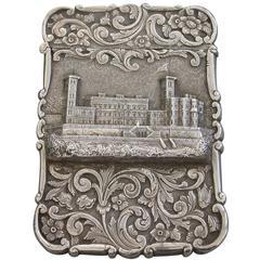 """Victorian Silver Castle-Top Card Case """"Osbourne House"""""""