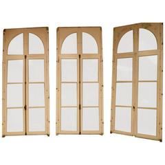 Four Pairs of Original 19th Cent Oak Door Windows from a French Palace