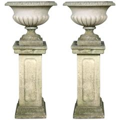Pair of Classical English Garden Urns
