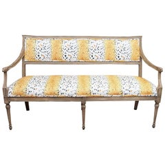 Painted Louis XVI Style Settee
