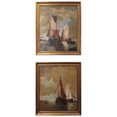 Pair of Seascape Oil Paintings