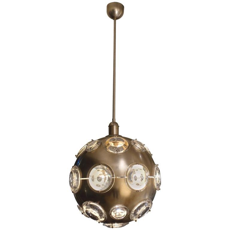Mid-Century Multi Plexi Light Globe Light, France