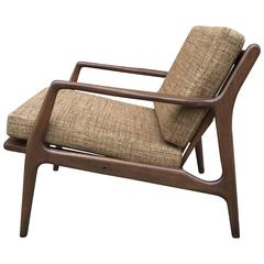 Mid-Century Modern Walnut Lounge Chair by Ib Kofod-Larsen