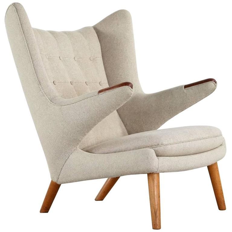 Hans J. Wegner Papa Bear Easy Chair by AP Stolen Model AP90, 1951