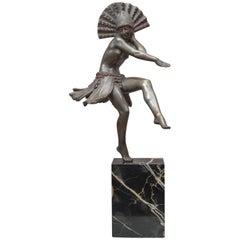 Art Deco Bronze Dancer, French, Artist Signed