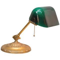 "Signed ""Emeralite"" Banker's Desk Lamp"