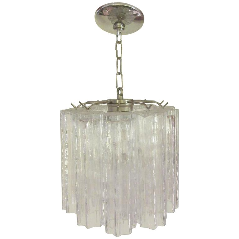 Venini Chandelier with Chrome Supports 1