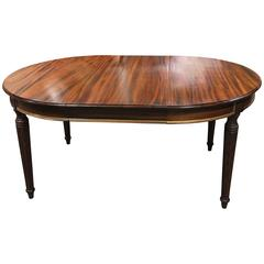 19th Century Dining Table French Mahogany 43'' x 43'' can Extend to 81''