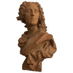 Terracotta Bust of Noel-Nicolas Coypel after Lemoine