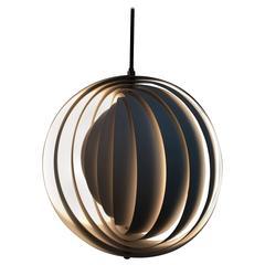 1960s Danish Original Mid-Century Moonlight Pendant by Verner Panton