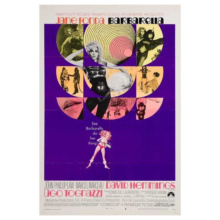 Barbarella Original US Film Poster, 1968