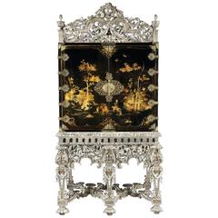 William and Mary Japanned Cabinet on Stand