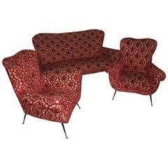 Living Room Set Italian Mid-Century Design Minotti Gigi Radice 1950