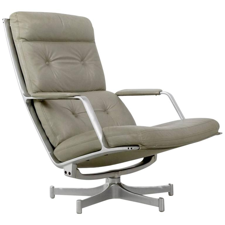 Fabricius & Kastholm FK85 Grey Leather Lounge Chair for Kill International, 1962 1