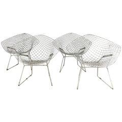 "Matched pair of ""Bertoia"" Diamond Chairs, Classic Modern, Harry Bertoia for Knol"