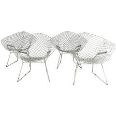 "Set of Four ""Bertoia"" Diamond Chairs, Classic Modern, Harry Bertoia for Knoll"