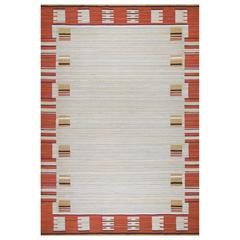Swedish Art Deco Modernist Flat-Weave Rug, 1930s