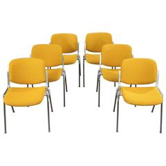 "1970s Set of Six Castelli ""DSC 106"" Chairs by Giancarlo Piretti"