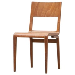 1950's beech plywood Chair by German Erich Menzel  'a'